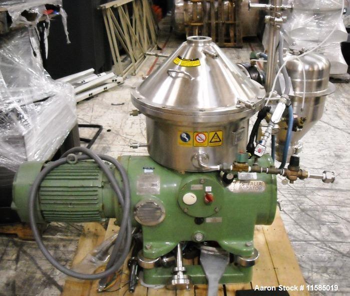 Used- Stainless Steel Westfalia Desludger Disc Centrifuge, SA-19-06-076