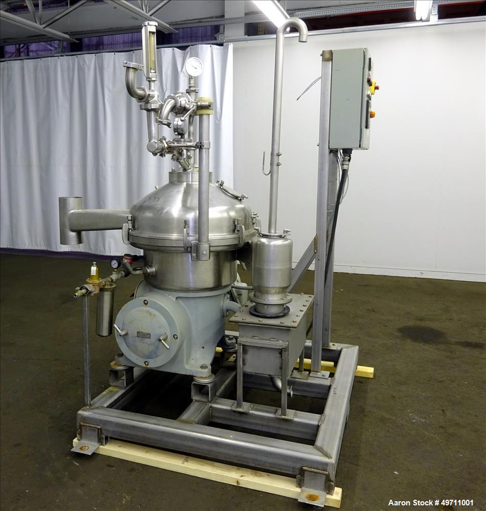 Used- Westfalia SA-20-03-076 Desludger Disc Centrifuge.