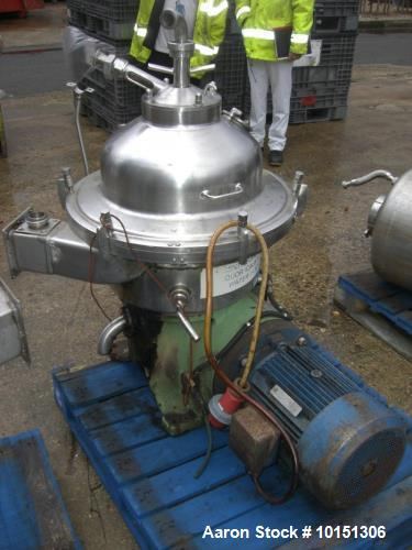 Used- Westfalia SA-20-06-076 Deludger Disc Centrifuge