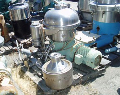 Used-Westfalia SA-20-06-076 Desludger Disc Centrifuge. 316 stainless steel construction on product contact areas, max bowl s...