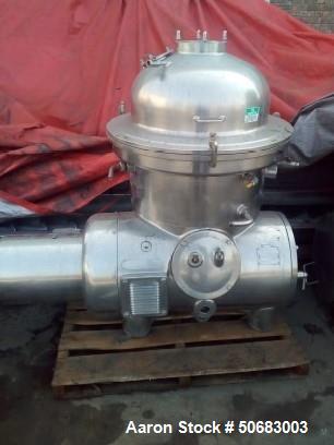 Used- Westfalia SA-40-06-076 Disc Centrifuge