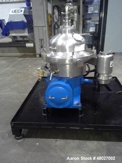 Used- Westfalia Desludger Disc Centrifuge. Model SAMR-5036