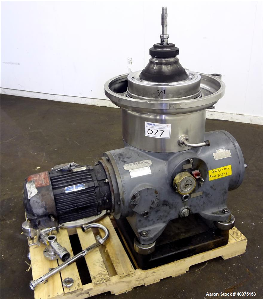 Used- Westfalia SB-14-06-076 Desludger Disc Centrifuge.