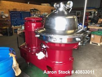 Used- Westfalia SB-80-36-177 Desludger Disc Centrifuge