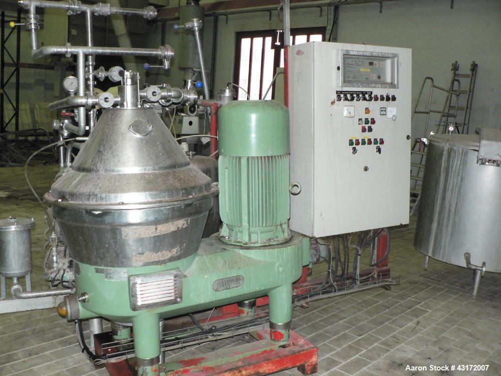 Used- Westfalia SC 35-06-177 Desludger Disc Centrifuge