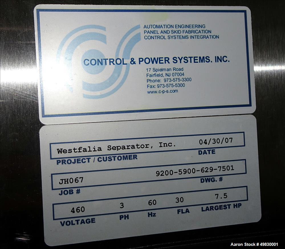 Used- GEA Westfalia SC-6-06-076 Desludger Disc Centrifuge