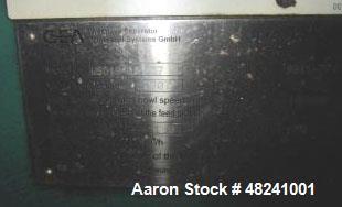 Used- GEA/Westfalia WSD-18-01-037 Desludger Disc Centrifuge. Max speed 10,000 rpm. Separator design (liquid/liquid solids se...