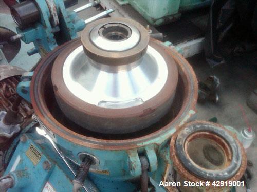 Used- Alfa Laval Solid Bowl Disc Centrifuge, MAB-204S