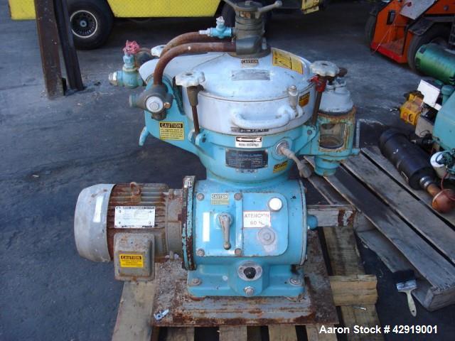 Used- Alfa Laval MAB-204S-24-60 Oil Purifier Disc Centrifuge