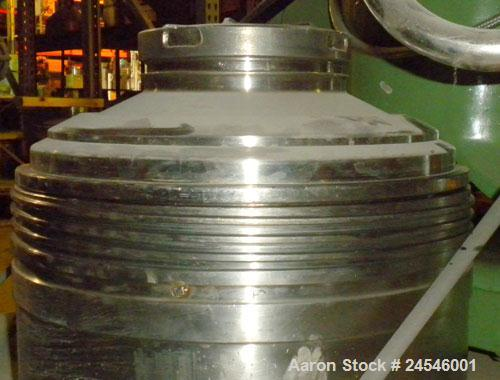 Used- Westfalia BKA-25-86-076 Solid Bowl Disc Centrifuge, 316 Stainless Steel Construction (product contact areas). Maximum ...