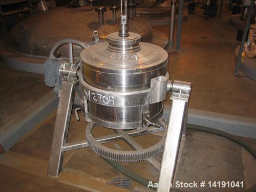 Used-Westfalia BKA-45-86-076 Solid Bowl Disc Centrifuge, 316 stainless steel construction (product contact areas).Max bowl s...