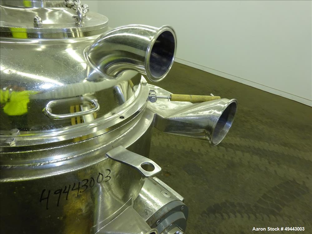 Used- Westfalia BKA35-86-076 Solid Bowl Disc Centrifuge.