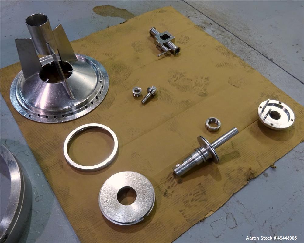 Used- Westfalia BKA35-86-076 Solid Bowl Disc Centrifuge. 316 Stainless Steel