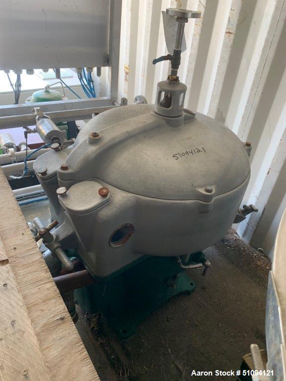 Used- Westfalia OTA30-00-066 Solid Bowl Disc Centrifuge