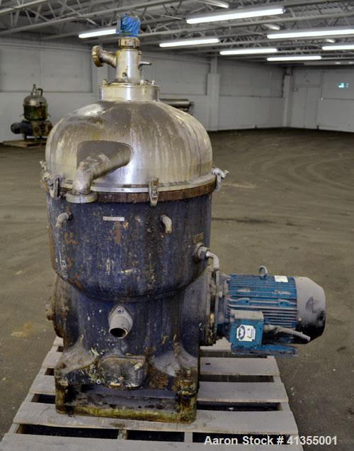 Used- Stainless Steel Westfalia Solid Bowl Disc Centrifuge, TA-60-02-506