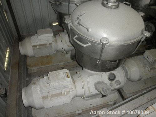 Used- Alfa Laval Nozzle Disc Centrifuge, Model FESX412S-34/4000-29