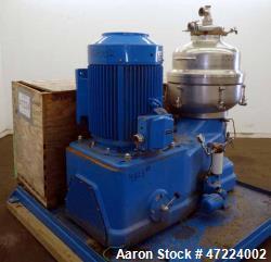 Used- Alfa Laval Disc Nozzle Centrifuge, Model FEUX-412