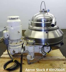Used- Westfalia Quark Disc Centrifuge