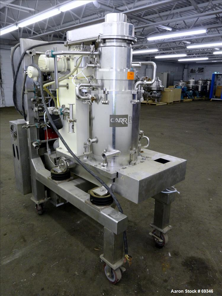 Used- Stainless Steel Powerfuge Solid Bowl Centrifuge
