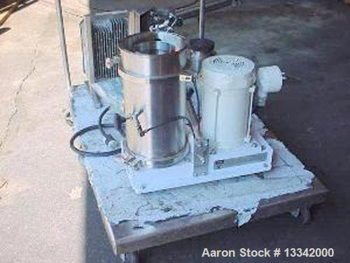Used-Carr Pilot Powerfuge Solid Bowl Ultra Centrifuge. Stainless steel construction with titanium bowl assembly. Bowl volume...