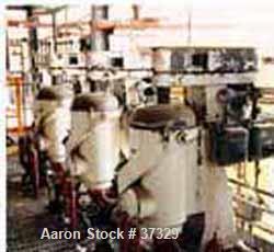 USED: Sharples ap-26 super centrifuge, carbon steel. Max bowl spd 15,000 rpm, pressuretite separator design w/deep sludge co...