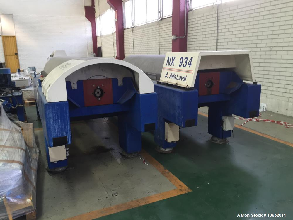 Used- Alfa Laval NX-934B-11G Solid Bowl Tricanter Centrifuge. 316 Stainless steel construction (product contact areas). Maxi...