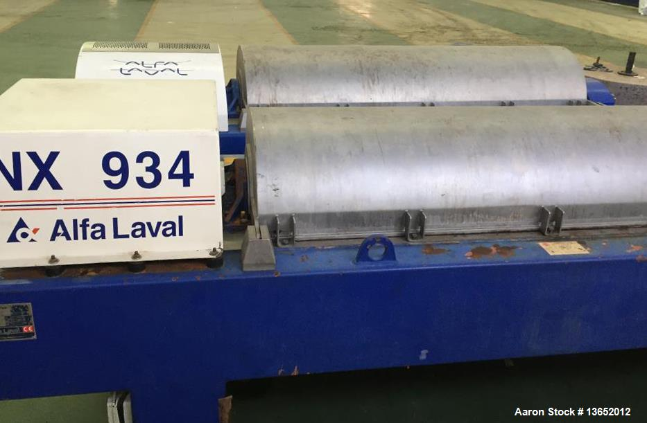 Used- Alfa Laval NX-934B-11G Solid Bowl Tricanter Centrifuge.