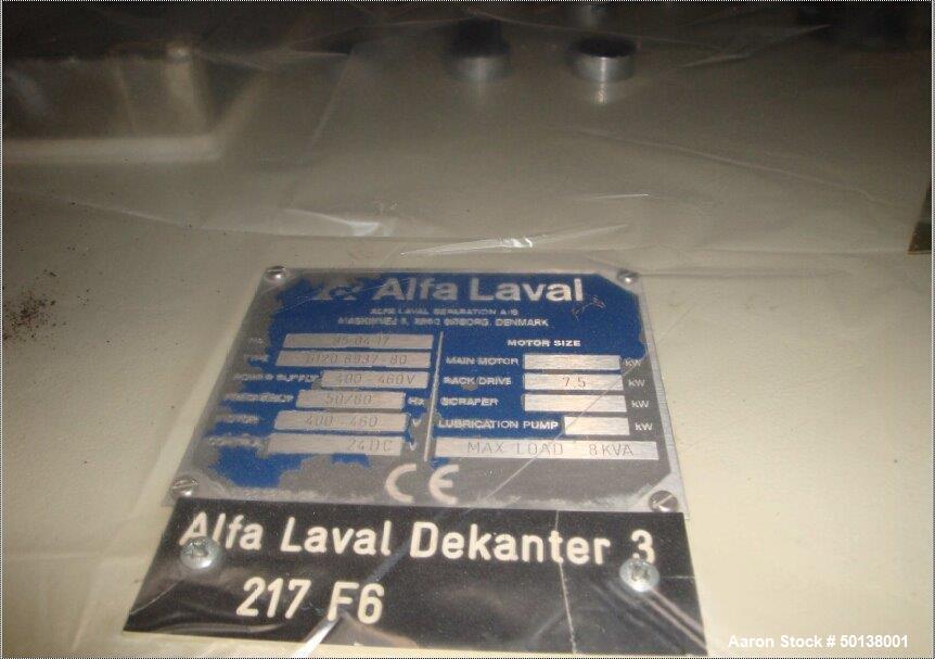 Used- Alfa Laval NX-934 Tricanter Centrifuge