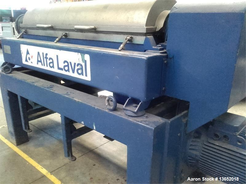 Used- Alfa Laval UVNX-418B-11G Solid Bowl Tricanter Centrifuge