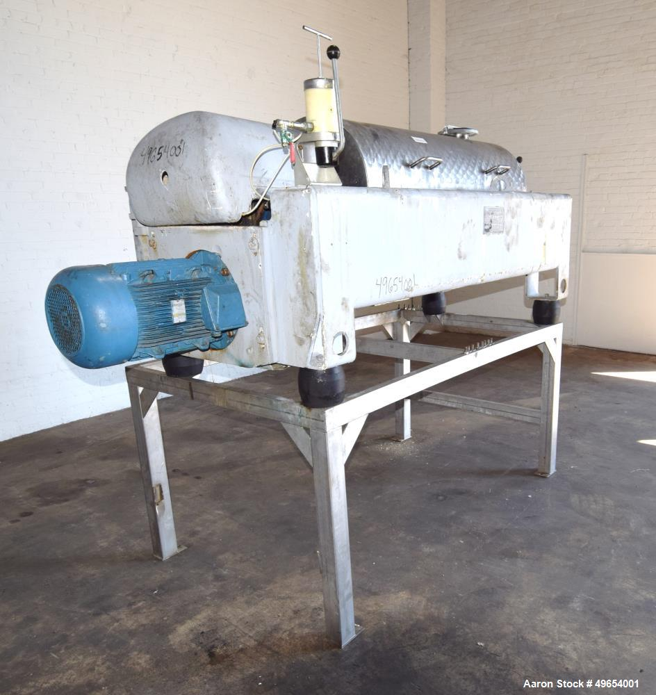 Used- Flottweg Z4D-3/441 Semi-Sanitary Tricanter Solid Bowl Decanter Centrifuge
