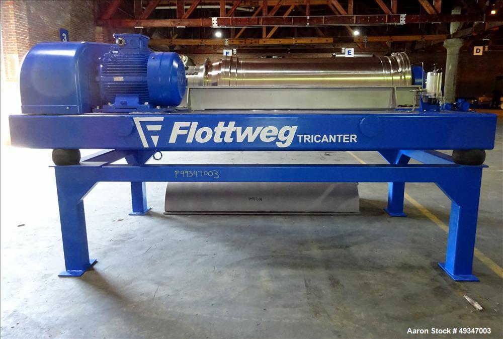 Used- Flottweg Z53-4/464 Solid Bowl Tricanter Centrifuge.