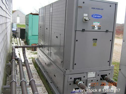 Used- Carrier model 30RAN022 Aquasnap Chiller. 16.2 ton capacity, 152 gallon reservoir. 230 volts, 3PH.60HZ.