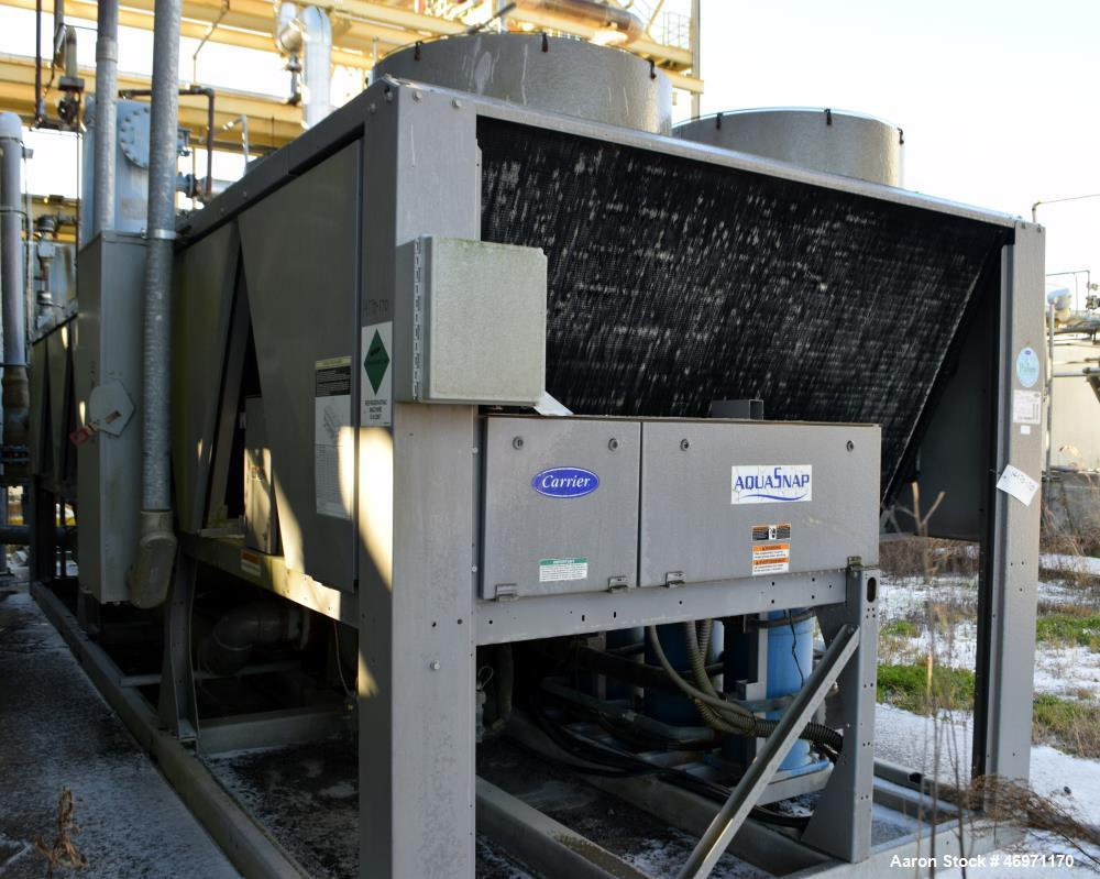 Used- Carrier AquaSnap Air Cooled Chiller, Model