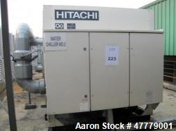 Hitachi H Series Air Cooled Chiller, Approximate 103 Tons, Model RCUG-150AHYZ1. R407C Refrigerant, ...