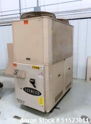 Used-Sterlco Portable Air Cooled Packaged Chiller, Model SMCA-15.  14.14 Tons Cooling Capacity, 34.9 GPM, Max Temperature 65...