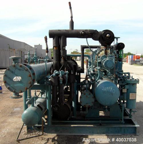 Used: Frick Ethylene Glycol Rotary Screw Chiller. (LOW TEMP)  Model RWB II 76E, approximately 45 ton at -15 degrees F. R134A...