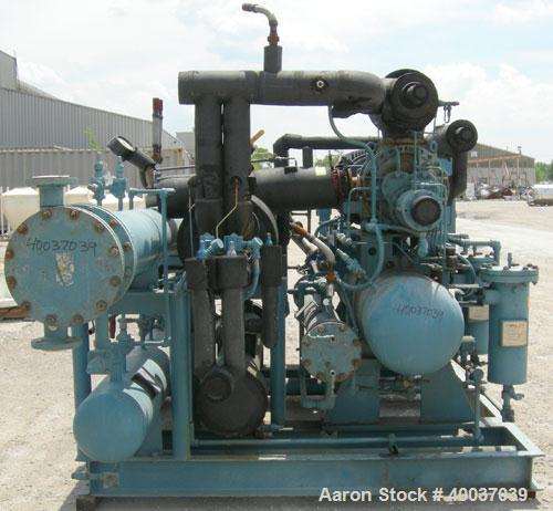 Used: Frick Ethylene Glycol Rotary Screw Chiller. (LOW TEMP) . Model RWB II 76E, approximately 45 ton at -15 degrees F. R134...
