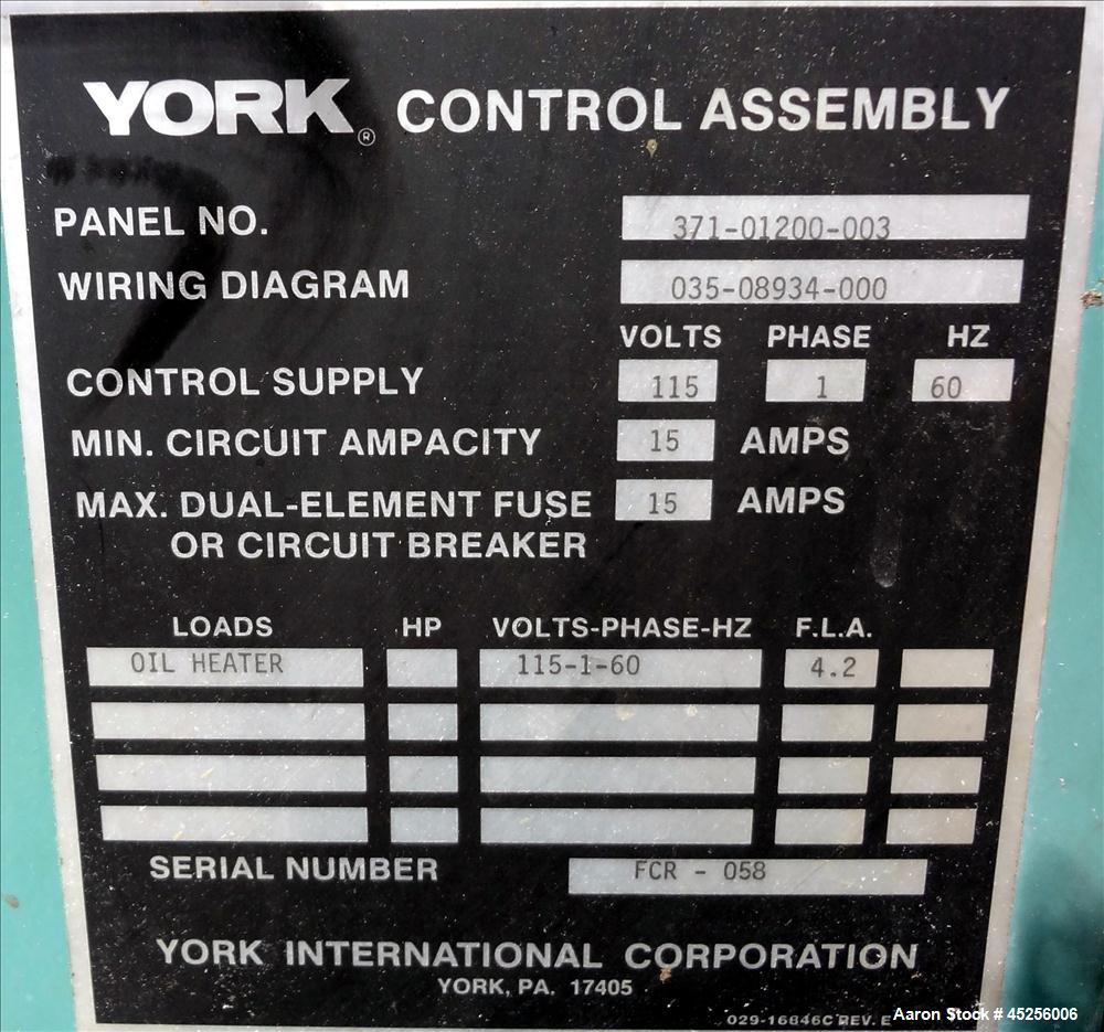 Used York Codepack Rotary Screw Liquid Chilling Chiller Control Wiring Diagram System Model Ys Db Da