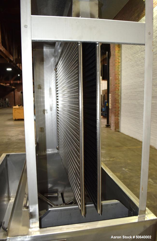 Used- Chester-Jensen Open Type Chilled Water Unit, Model XB-4-OT-2-32, Stainless Steel. Approximate cool water with 26 degre...