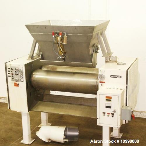 "Used- Buhler-Maig, 2 Roll Mill. Refiner for chocolate masses, creams, soaps. Roller's 15"" diameter x 56"" width, surface of 5..."