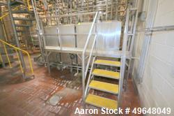 Used-4-Square Tanks Aprox. 200 Gal. CIP System, with (4) Aprox. 200 Gal. Single Wall Vertical Tanks, Internal Tank Dims.:  A...