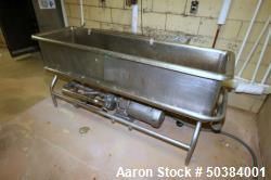 Used-Stainless Steel COP Tank with Jet Spray, Includes Fristam 10 hp Centrifugal Pump, Model FP732-150, Serial # FP732007424...