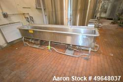 Used-Sani-Matic Stainless Steel COP Tank, Model # UWJ-175, with Tri-Clover 7-1/2 hp Centrifugal Pump, Internal Dims.:  Aprox...