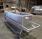 Used-Sani-Matic Clean Out of Place Tank, Model PWJ-300.  Stainless Steel, Horizontal.  Trough approximate 98