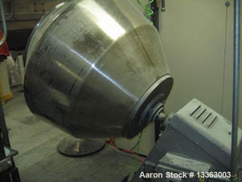 """Used-Angular 42"""" Coating Pan, 42"""" diameter x 33"""" deep x 28"""" opening, stainless steel, motor and speed reducer, control panel..."""