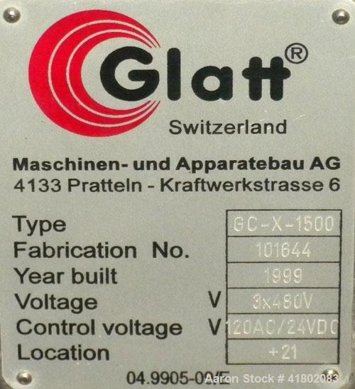 Used- Glatt Drum Coater, Model GC-X-1500
