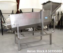 "Used-Coating Drum, Stainless Steel. Perforated drum approximate 23"" diameter x 96"" long, driven by an approximate 0.75hp gea..."