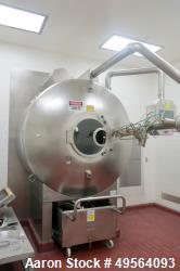 "Used- Glatt 60"" Procoater Coating Pan, Model GC-X-1500, Stainless Steel Construction. Includes spray nozzles, controls, air ..."