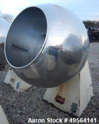 "Used-42"" Stokes Coating Pan Model 900-1-8 Stainless steel construction Lot: ST 42725 Serial #T 42832 Pan rpm range: 18 rpm l..."