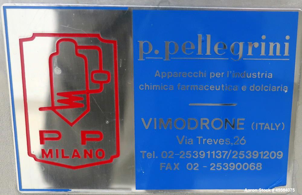 "Used- Pellegrini 60"" Stainless Steel Coating Pan, Model T300."